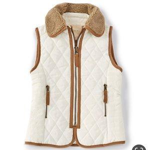 Copper Key girls Faux Fur Collar Vest Sz 14/16 NWT